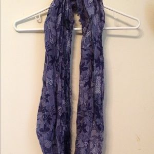 Accessories - Purple printed infinity scarf